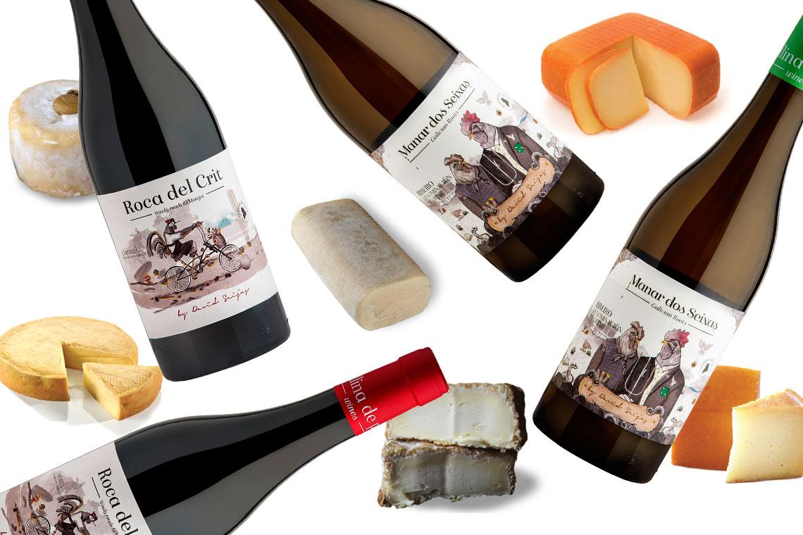 Entre vino y queso anda el juego